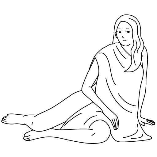 ヴィーナス風の美術モデルのイラスト