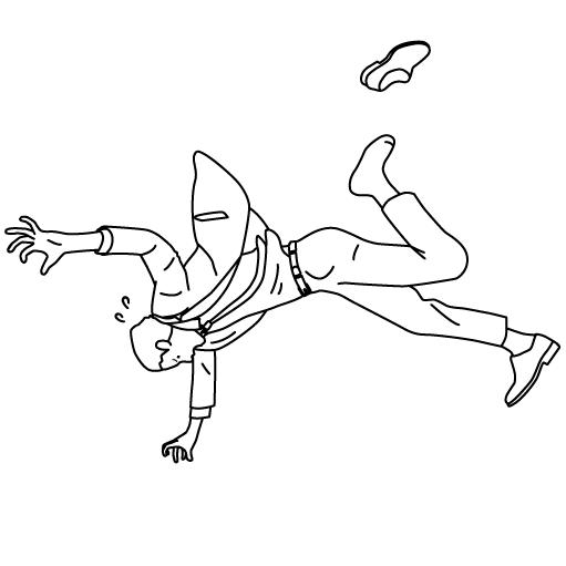 浮き上がる人のイラスト